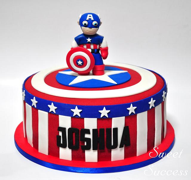 Fabulous Captain America Cake Cake By Sweet Success Cakesdecor Funny Birthday Cards Online Elaedamsfinfo