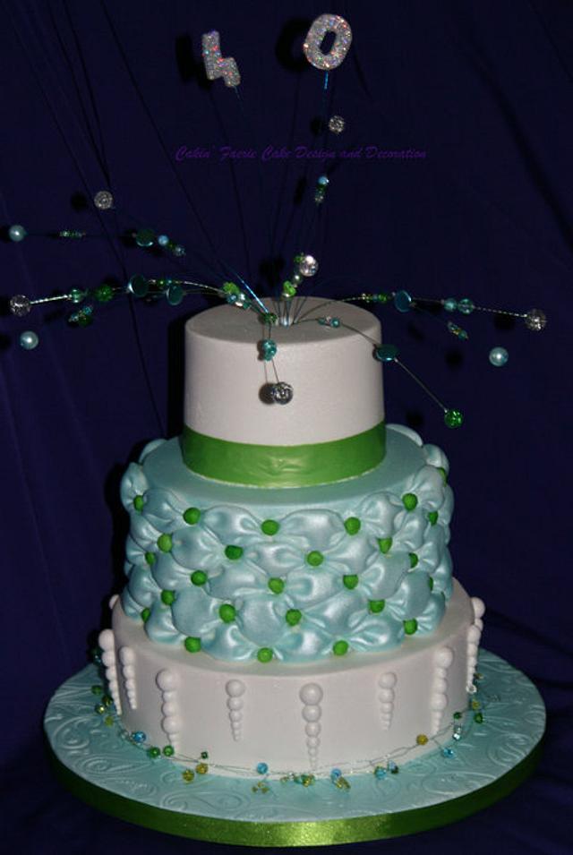 Aqua and Green 40th