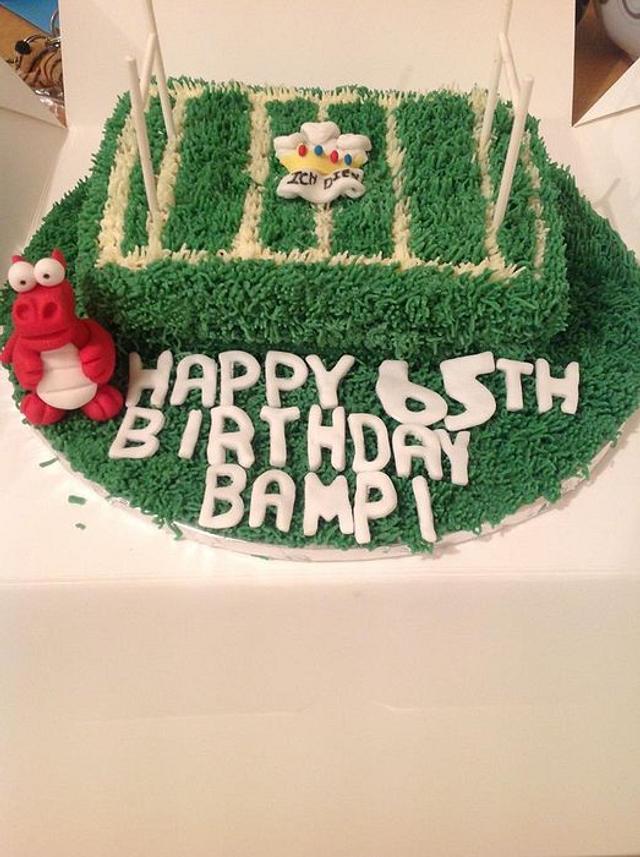 Welsh Rugby Fan Cake