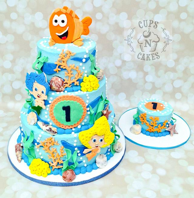 Enjoyable Bubble Guppies 1St Birthday Cake By Cups N Cakes Cakesdecor Funny Birthday Cards Online Hetedamsfinfo