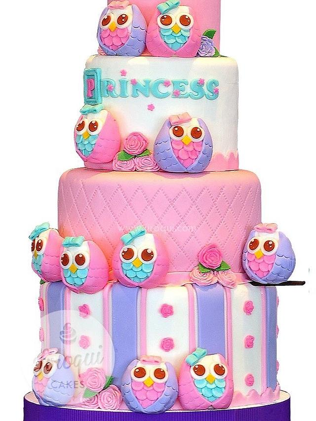 Surprising 12 Owls First Birthday Cake Cake By Kay Cakesdecor Funny Birthday Cards Online Hendilapandamsfinfo