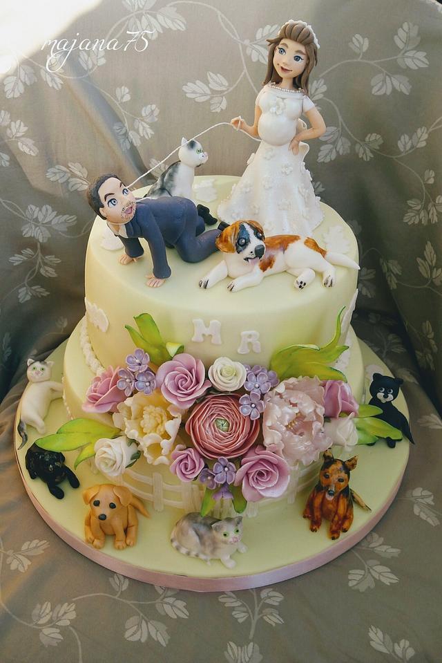 Funny Wedding Cake Cake By Majana75 Cakesdecor