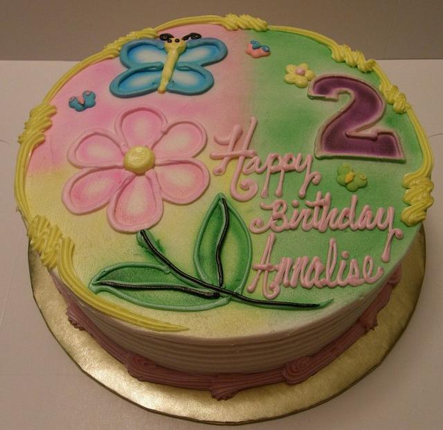 Airbrushed B-Day Cake