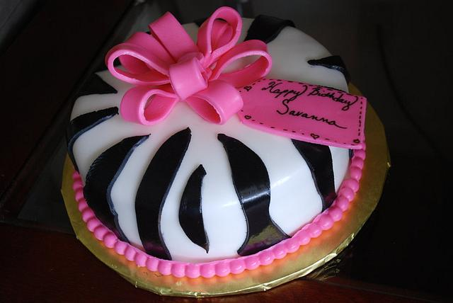 Sweet 16 Zebra Stripes