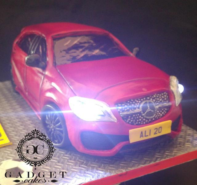 Mercedes a180d AMG line car cake