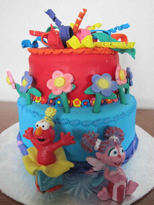 Cool Elmo And Abby Cadabby Cake By Special Occasions Cakesdecor Birthday Cards Printable Nowaargucafe Filternl