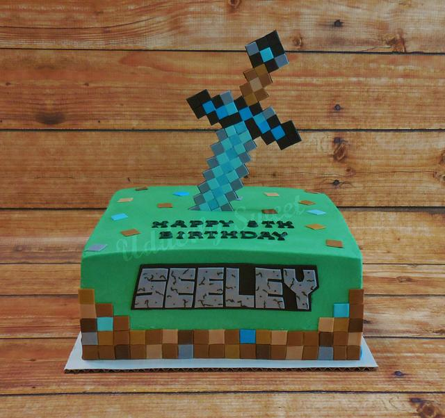 Minecraft 5th Birthday Cake