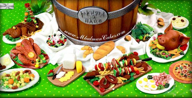 BULGARIAN Art in the kitchen Cake