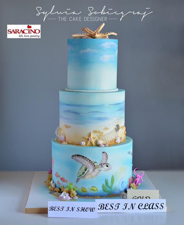 Ocean theme cake