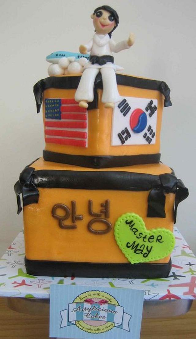 Taekwondo Farewell cake