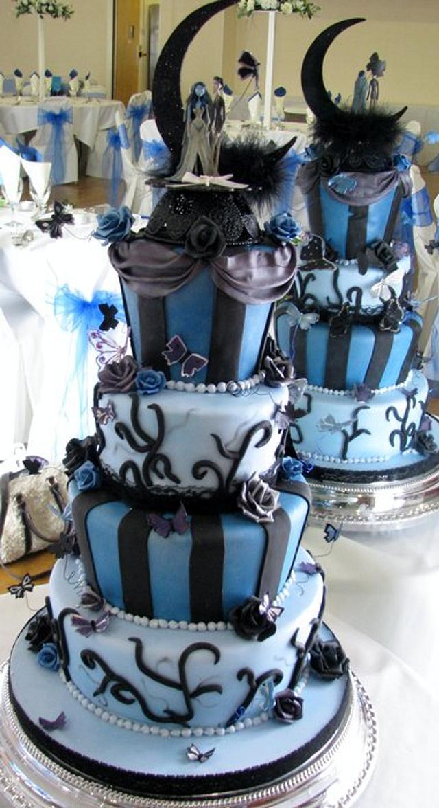 Corspe Bride & Groom Wedding Cake