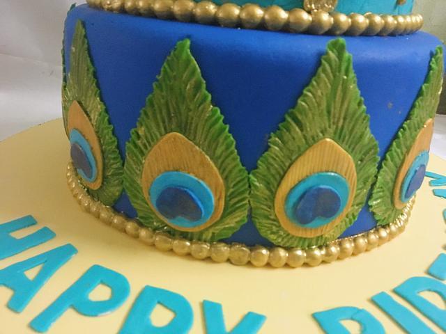 Baby Krishna cake