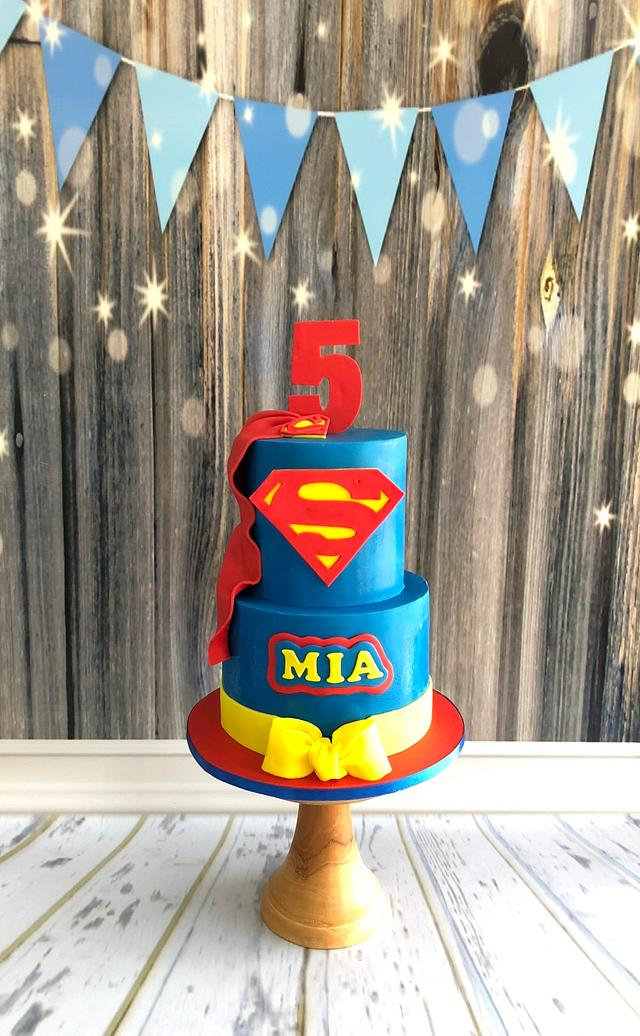 Magnificent Mia The Supergirl Cake By Joonie Tan Cakesdecor Funny Birthday Cards Online Elaedamsfinfo
