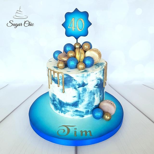 💙 Neon Blue Drip Cake 💙
