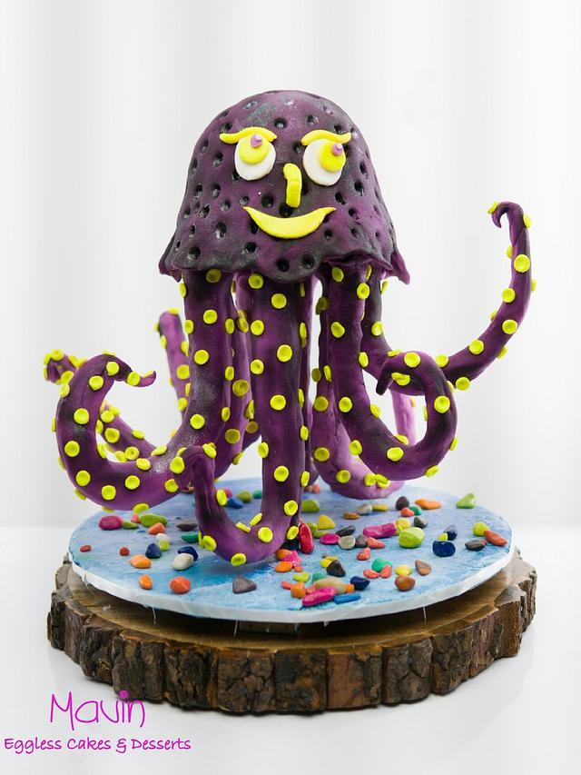 Happy Octo - CakerBuddiesCollaborationCake