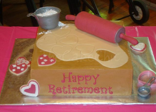Home Ec Teacher Retirement Cake