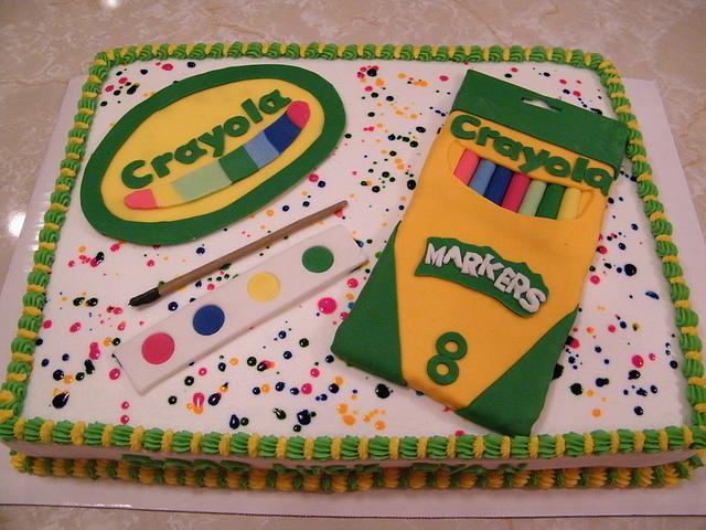 Crayola Congratulations Cake