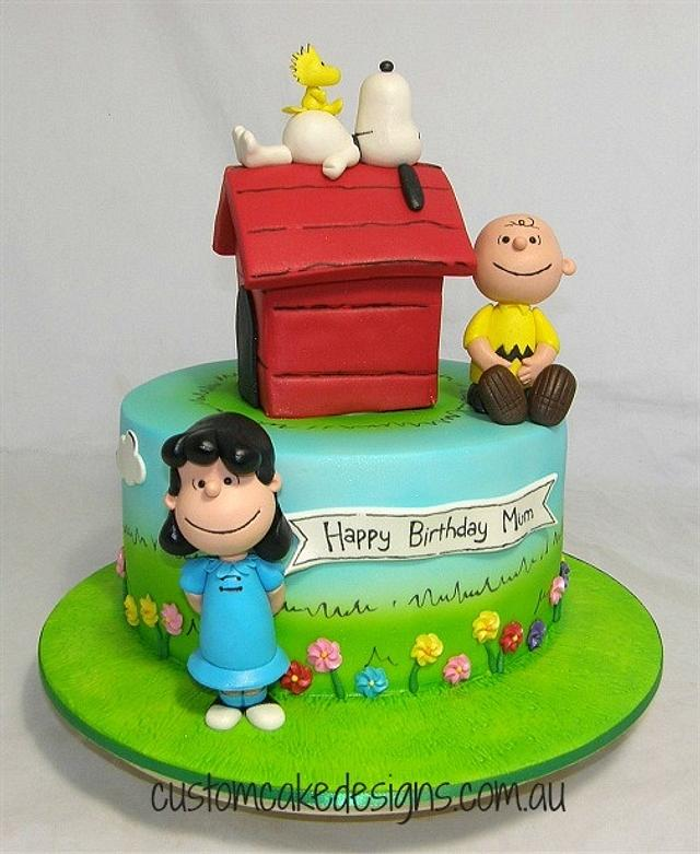 Enjoyable Snoopy 60Th Birthday Cake Cake By Custom Cake Designs Cakesdecor Funny Birthday Cards Online Alyptdamsfinfo