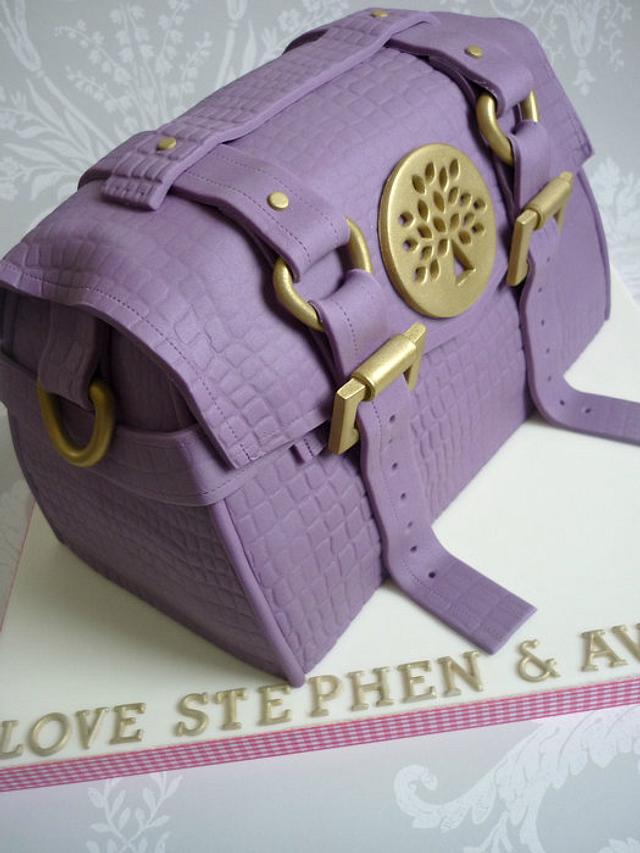 'Mulberry' handbag cake