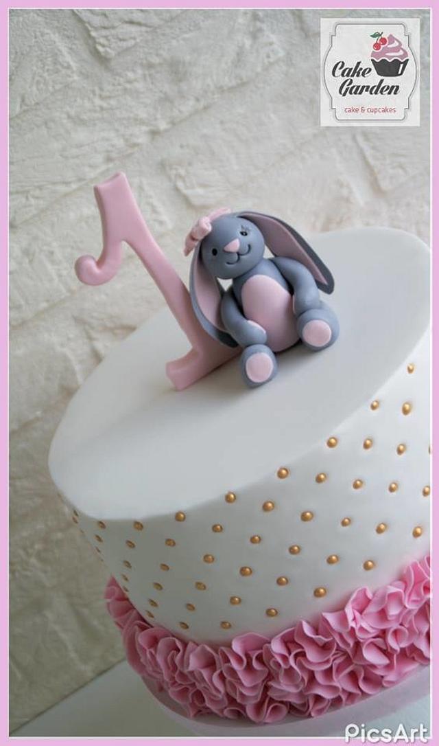 Ruffles- bunny cake