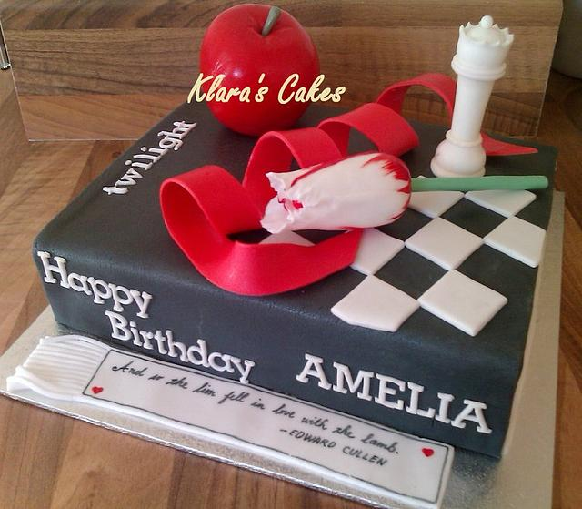 Twilight Book Cake