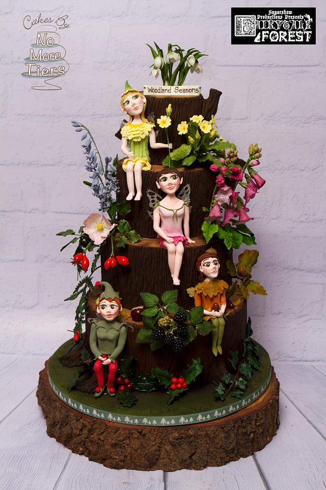 """""""Woodland Seasons"""" cake - part of the Fairytale Forest collaboration at Birmingham CI"""