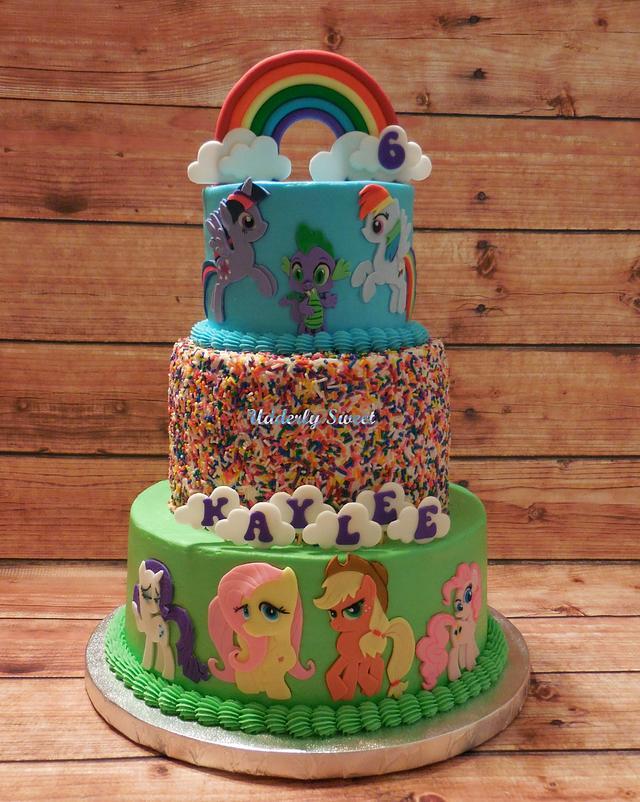 My Little Pony 6th Birthday Cake