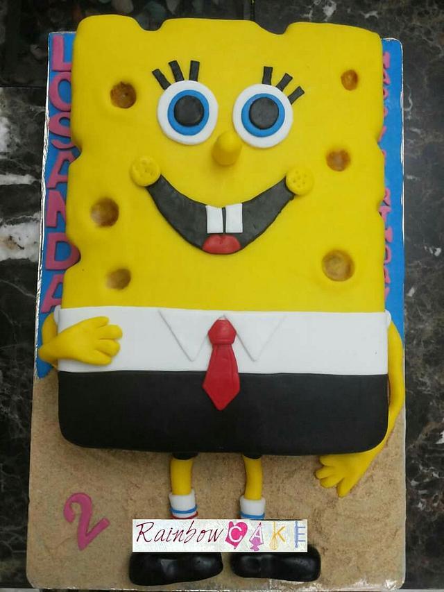 spongebob cake #fondantcake