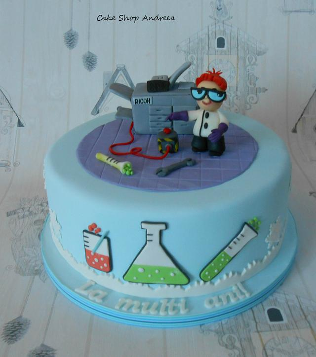 the Dexter's  lab cake