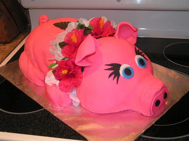 Pink luau pig