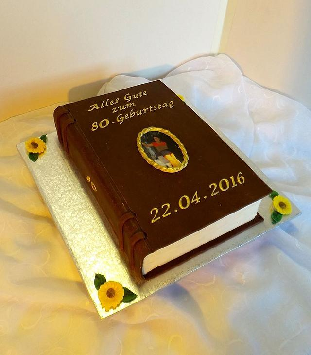 Excellent 80Th Birthday Book Cake Cake By Probst Willi Bakery Cakesdecor Personalised Birthday Cards Xaembasilily Jamesorg