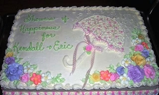 Bridal Shower Sheet Cake