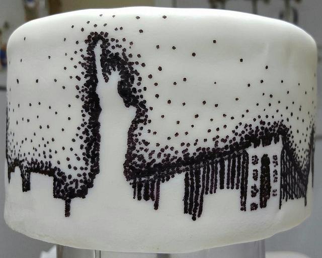 New York City Skyline Cake