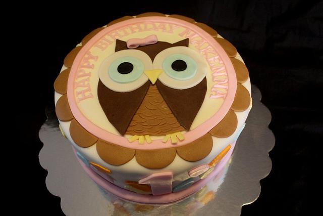 Owl Cake and smash cake