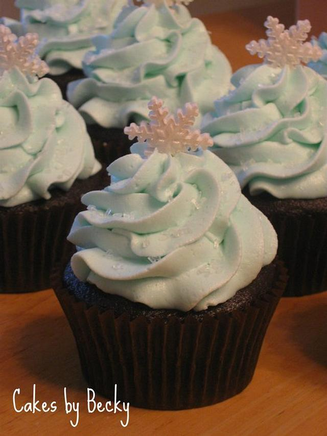 Snow and Ice Cupcakes