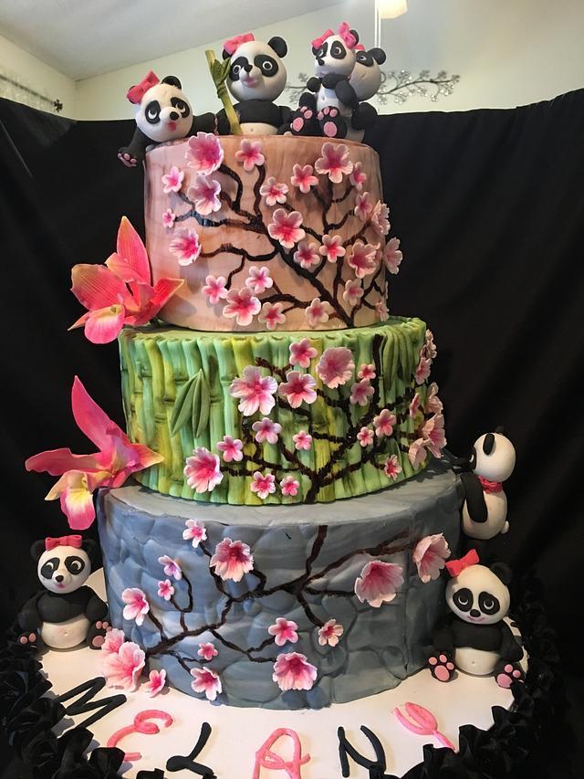 Phenomenal Panda Bear Birthday Cake Cake By Chubbyabi Cakesdecor Funny Birthday Cards Online Inifofree Goldxyz
