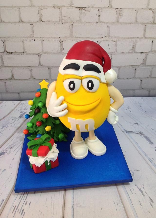 Yellow m&m cake