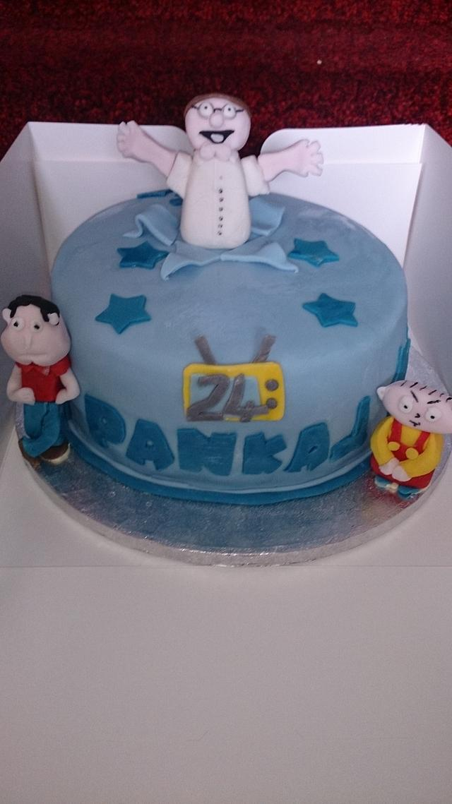 Astonishing Family Guy Cake Cake By Zoebeecher Cakesdecor Funny Birthday Cards Online Alyptdamsfinfo