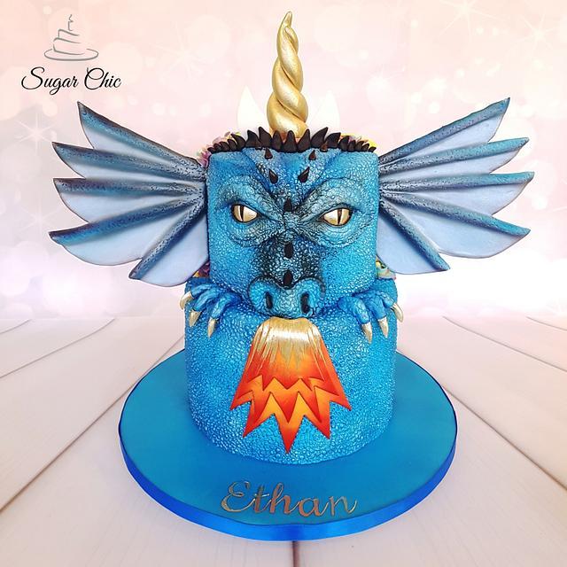 x Dragon-icorn Two-Sided Birthday Cake x
