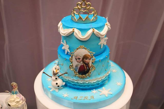 Prime Frozen Birthday Cake Cake By Torte By Amina Eco Cakesdecor Funny Birthday Cards Online Elaedamsfinfo