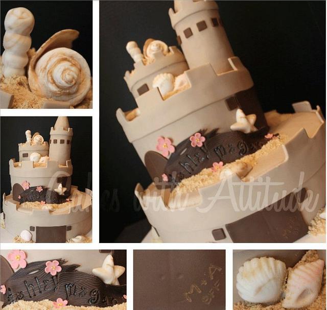 Sweet 16 Sandcastle Cake