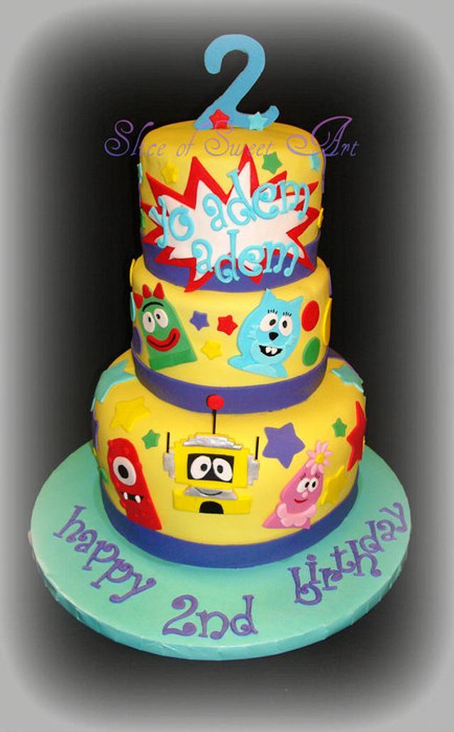 Strange Yo Gabba Gabba Birthday Cake By Slice Of Sweet Art Cakesdecor Funny Birthday Cards Online Elaedamsfinfo
