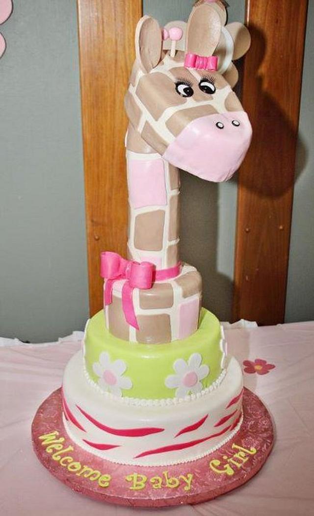 Jungle Jill themed baby shower cake! :)