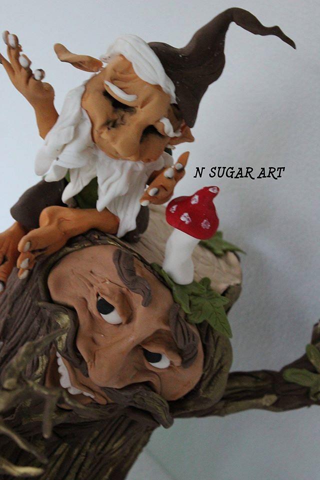 Sugar art collaboration Woodland Fairy