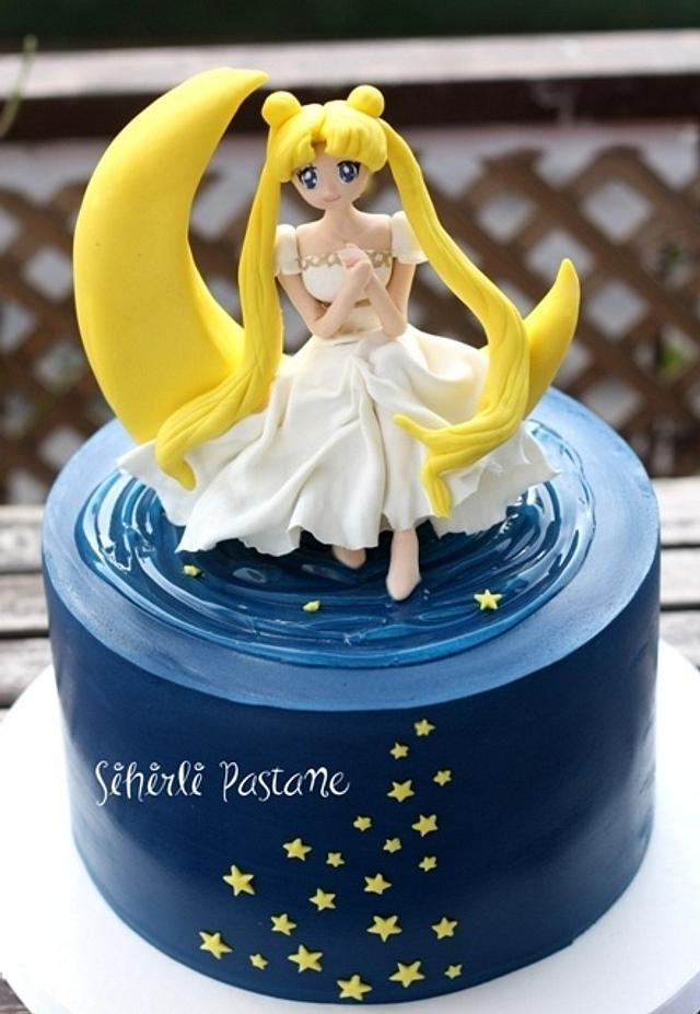 Astonishing Sailor Moon Cake Cake By Sihirli Pastane Cakesdecor Personalised Birthday Cards Beptaeletsinfo