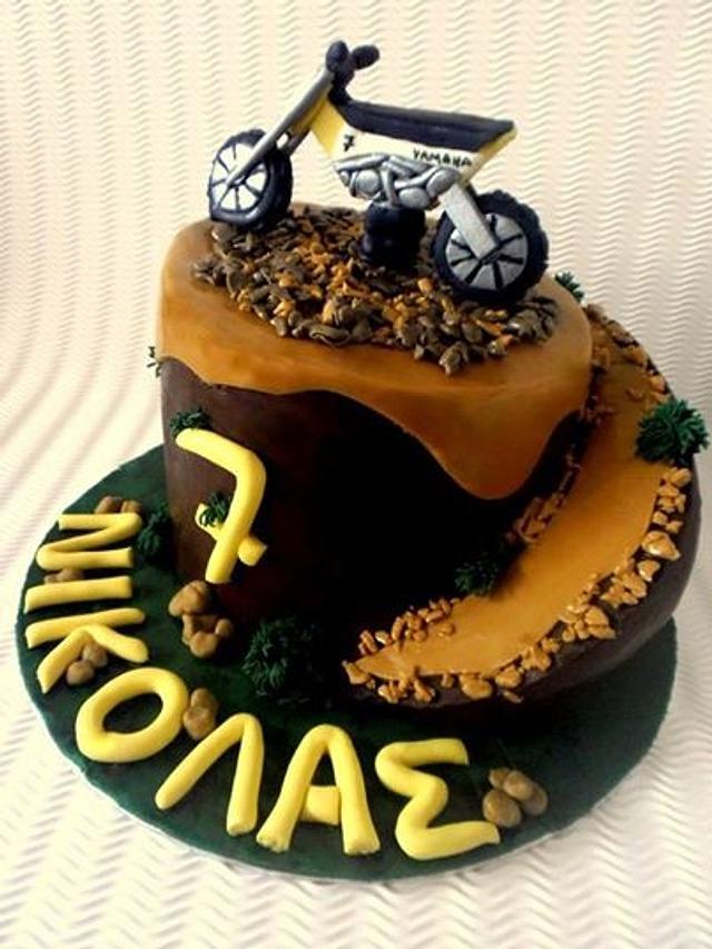 Pleasing Motocross Birthday Cake Cake By Sweetfantasy By Cakesdecor Birthday Cards Printable Trancafe Filternl