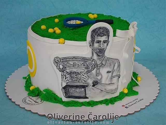 Novak Djokovic Cake