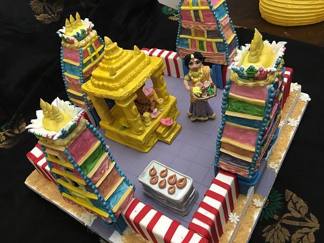 Temple Gopuram cake