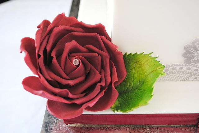 Burgundy Roses and Bows