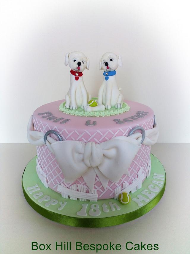 Fluff & Scruff pooch cake
